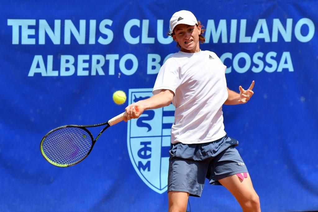 Il peruviano di Lima Ignacio Buse ha battuto nei quarti di finale del Trofeo Bonfiglio l'azzurro Giorgio Tabacco (Foto Francesco Panunzio)